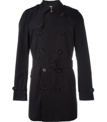 burberry the kensington - mid-length trench coat - blue
