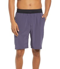 zella men's core stretch woven shorts, size x-small in grey stone at nordstrom
