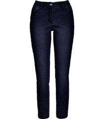 jeans elasticizzati alla caviglia con pietruzze (blu) - bpc selection