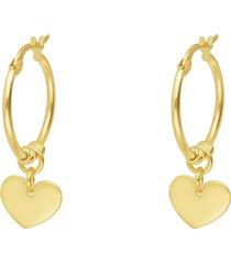 orecchini a cerchio con cuore per donna