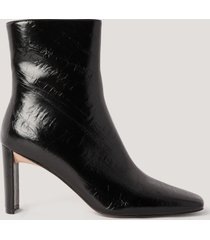 na-kd shoes stövletter med rynkning på ovansidan - black
