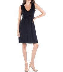 24seven comfort apparel sleeveless v-neck empire waist cocktail dress
