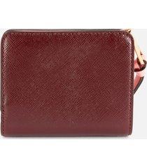 marc jacobs women's mini compact wallet - dusty ruby multi