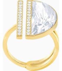 anello glow, bianco, placcatura oro