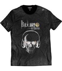 camiseta di nuevo delírio urbano skull preta hip hop preta