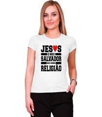 blusa criativa urbana jesus salvador gospel religiosa branco