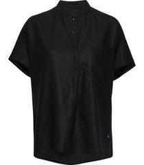 isa blouse blouses short-sleeved zwart mos mosh
