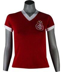 camiseta feminina dilva oldoni internacional retro valdomiro