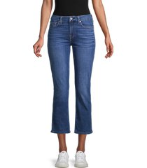 7 for all mankind women's kimmie crop flare jeans - blue multi - size 30 (8-10)