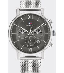 tommy hilfiger men's sub-dials stainless steel watch wi mesh bracelet stainless steel -