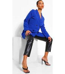 oversized long line blazer met dubbele knopen, cobalt