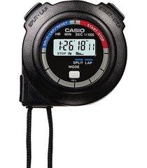 cronómetro digital casio hs-3v-1r-negro