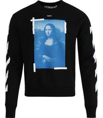blue mona lisa long sleeve t-shirt