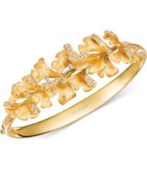 le vian nude diamond floral bangle bracelet (3/4 ct. t.w.) in 14k gold