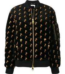 horses embroidered bomber jacket