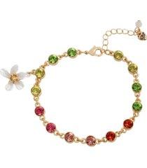 betsey johnson stone flower charm bracelet