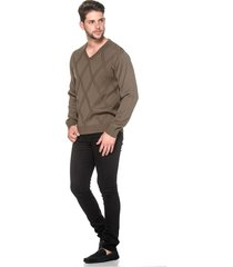 suéter passion tricot lk brown