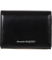 alexander mcqueen button-snap card holder