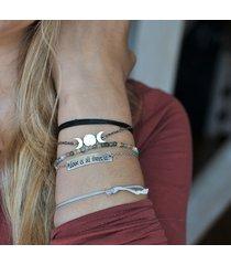fazy księżyca - srebrna bransoletka