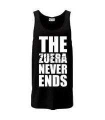 camiseta regata criativa urbana frases engraçadas zuera never ends preto