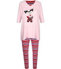 pyjama blue moon roze::rood::zwart