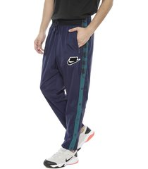 pantalón térmico nike m nsw nsp pant wvn azul - calce regular