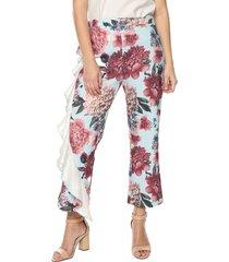 pantalon con bolero flores ref.117723 charby azul floral