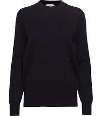 cashmere crew neck sweater gebreide trui zwart calvin klein