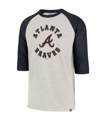 '47 brand atlanta braves men's retrospect raglan t-shirt