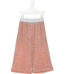 caffe' d'orzo glitter loose-fit trousers - orange