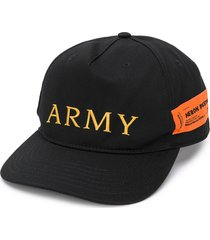 heron preston embroidered army cap - black
