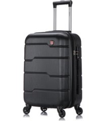 "dukap rodez 20"" lightweight hardside spinner carry-on luggage"
