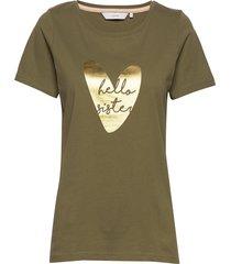 nuaziliz t-shirt t-shirts & tops short-sleeved grön nümph