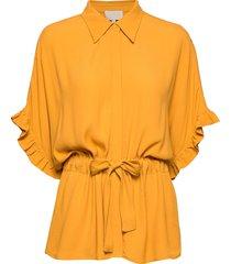 ariana shirt boozt blouses short-sleeved geel minus