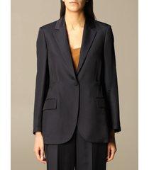 theory blazer theory single-breasted jacket in viscose