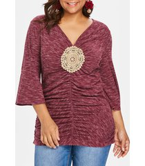 plus size bell sleeve embellished t-shirt