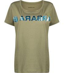 barbara bui mirrored logo-print cotton t-shirt - green