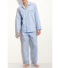 men's majestic international cotton pajamas, size x-large - blue