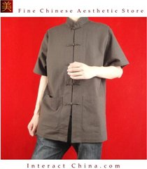 100% cotton brown kung fu martial arts tai chi shirt clothing tailor custom made