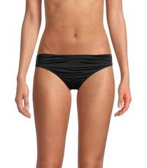 stella mccartney women's low-rise bikini bottom - blue stone - size xs