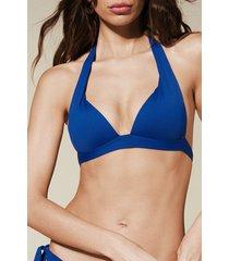 calzedonia indonesia extra padded triangle bikini top woman blue size 3