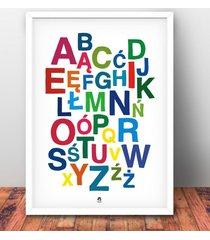 alfabet polski plakat b1