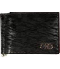 salvatore ferragamo snap button logo card holder