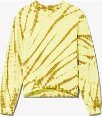 proenza schouler white label tie dye sweatshirt paleyellow/darkyellow xl