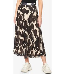sanctuary pleat it printed midi skirt