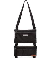 heron preston double-pouch crossbody bag - black