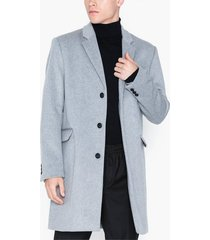 topman grey single breasted overcoat jackor grey