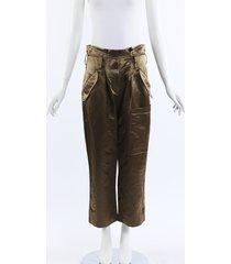 brunello cucinelli satin cropped cargo pants