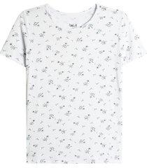 camiseta blanco-multicolor facol