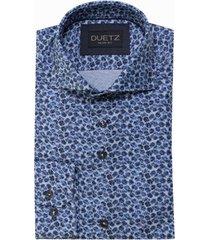 duetz1857 duetz 1857 dress overhemd print blauw